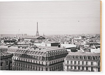 Paris In The Afternoon Wood Print by Vivienne Gucwa