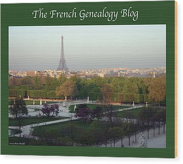 Paris In The Fall With Fgb Border Wood Print by A Morddel