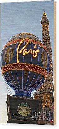 Paris In Vegas Wood Print by John Malone