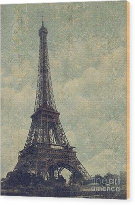 Paris Wood Print by Jelena Jovanovic
