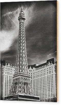 Paris Las Vegas Wood Print by John Rizzuto