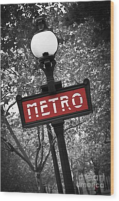 Paris Metro Wood Print by Elena Elisseeva