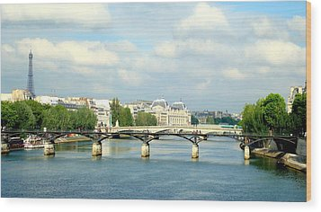 Wood Print featuring the photograph Paris On The Seine by Kay Gilley