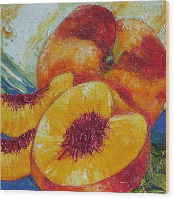 Paris' Peach Wood Print by Paris Wyatt Llanso