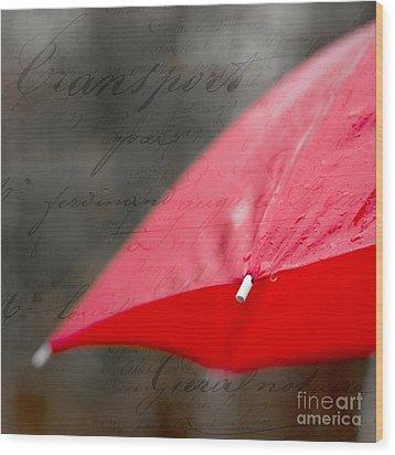 Paris Spring Rains Wood Print by Edward Fielding
