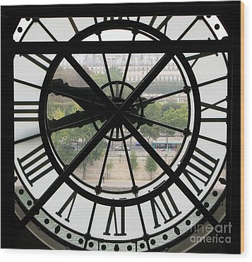 Wood Print featuring the photograph Paris Time by Ann Horn
