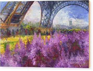 Paris Tour Eiffel 01 Wood Print by Yuriy  Shevchuk