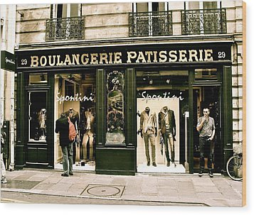 Wood Print featuring the photograph Paris Waiting by Ira Shander