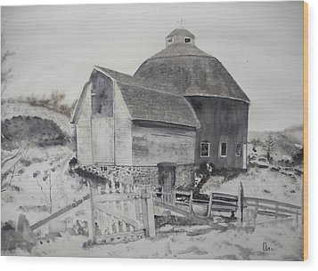 Parish Barn Wood Print