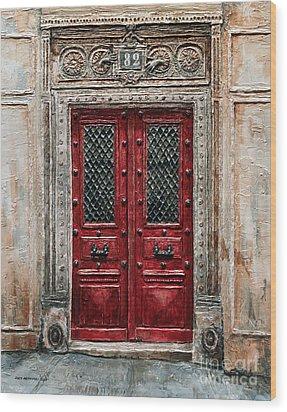 Parisian Door No.82 Wood Print