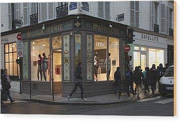 Parisian Evolution Wood Print by Randi Shenkman