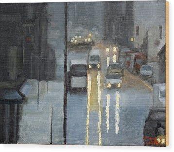 Parisian Storm Wood Print