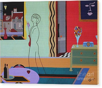 Parisienne Colors Wood Print by Bill OConnor