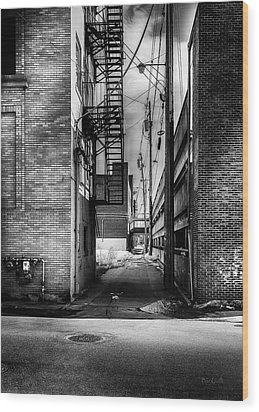 Park Alley Sunset Wood Print by Bob Orsillo