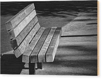 Park Bench Wood Print by Ludwig Keck