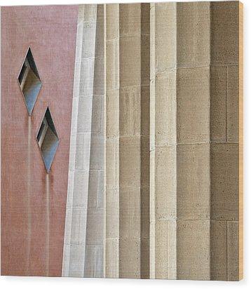 Park Guell Pillars Wood Print by Dave Bowman