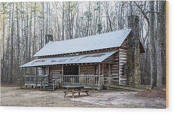 Park Ranger Cabin Wood Print
