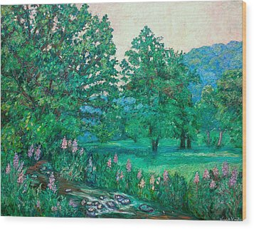 Wood Print featuring the painting Park Road In Radford by Kendall Kessler