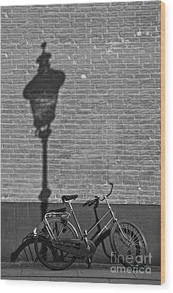 Parked Under The Lamp Post Wood Print by Inge Riis McDonald