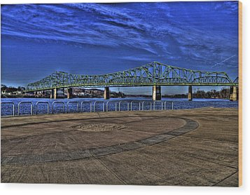 Wood Print featuring the photograph Parkersburg Point Park by Jonny D