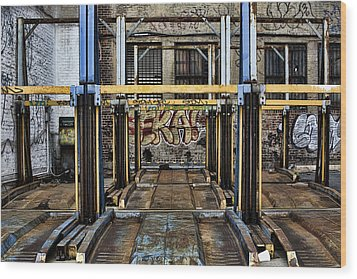 Parking Unreality Wood Print by Joanna Madloch