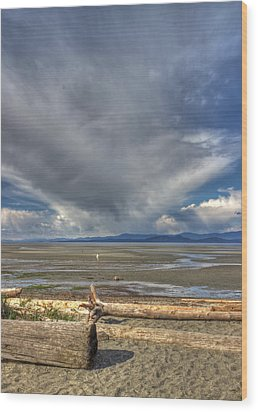 Parksville Beach - Low Tide Wood Print by Randy Hall