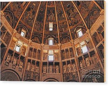 Parma Baptistery Wood Print by Nigel Fletcher-Jones