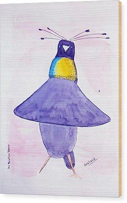 Parotia Dancing - Bird Of Paradise Wood Print