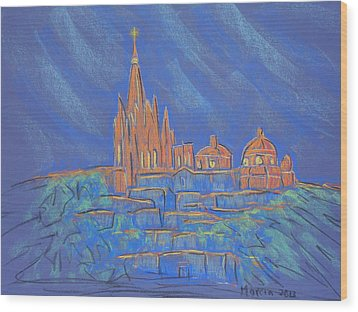 Parroquia From Below Wood Print by Marcia Meade