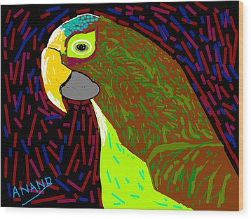 Parrot-3 Wood Print by Anand Swaroop Manchiraju