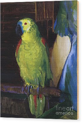 Parrot Wood Print by George Wesley Bellows