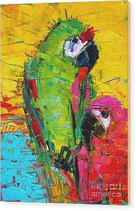 Parrot Lovers Wood Print
