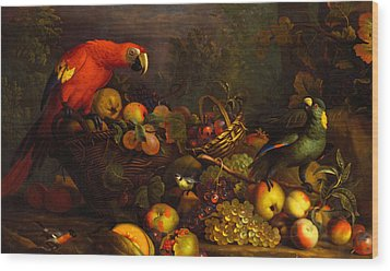 Parrots Wood Print by Tobias Stranover