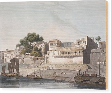 Part Of The City Of Patna, On The River Wood Print by Thomas Daniell