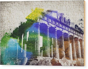 Parthenon Wood Print by Aged Pixel
