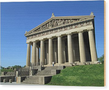 Parthenon At Nashville  Wood Print