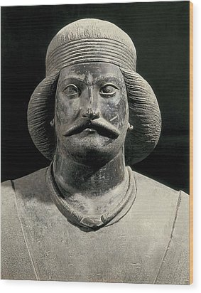 Parthian Warrior From Shami. 1st C Wood Print by Everett