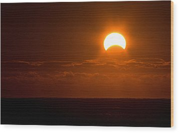 Partial  Eclipse Of The Sun Wood Print