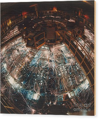 Particle Accelerator Wood Print by Science Source