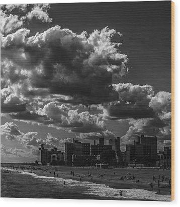 Partly Cloudy Wood Print by Edward Khutoretskiy