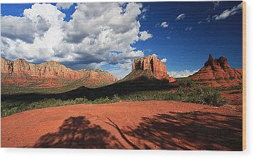 Wood Print featuring the photograph Partly Cloudy With A Chance Of Scenery by Gary Kaylor