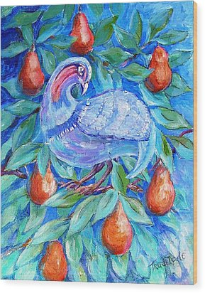 Partridge In A Pear Tree  Wood Print by Trudi Doyle