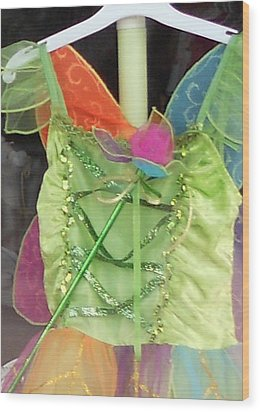 Party Time Window Wood Print by Jackie Mueller-Jones