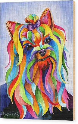 Party Yorky Wood Print