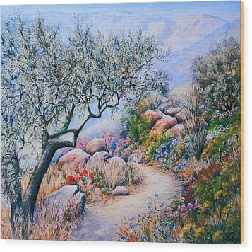 Paseo De Flores Wood Print by Rosemary Colyer