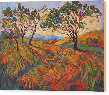 Paso Mosaic Wood Print by Erin Hanson