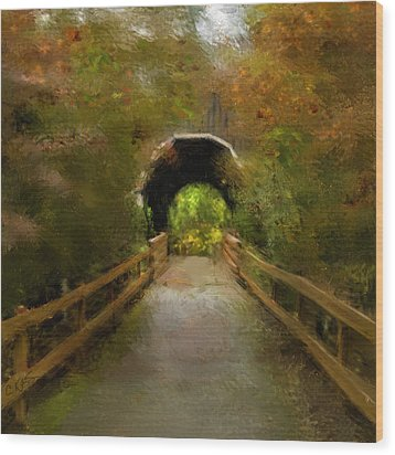 Pass Creek Bridge Wood Print