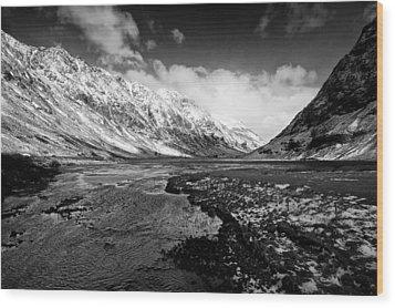 Pass Of Glencoe Wood Print by Stephen Taylor
