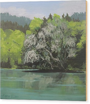 Wood Print featuring the painting Passing by Karen Ilari