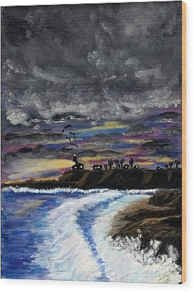 Passing Storm Wood Print by Gary Brandes
